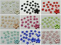 500 Acrylic Flatback Faceted Flower Rhinestone Gems 8mm Pick Your Color