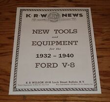 1932 1933 1934 Ford V-8 New Tools and Equipment Sales Brochure KRW Equipment