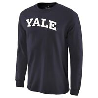 Fanatics Branded Yale Bulldogs Navy Basic Arch Long Sleeve Expansion T-Shirt