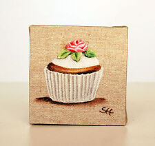 Tableau pour la cuisine cupcake fleur décoration d'intérieur style shabby chic