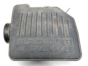 04-09 Dodge Durango Aspen 4.7L Magnum Air Box Resonator Intake Cleaner A2