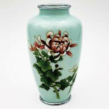 More details for stunning 20th century japanese pale blue cloisonne vase ando mark 6 inches