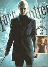 Draco Malfoy, Harry Potter Fantasy Film Usa Fdc Maximum Card Scott #4841