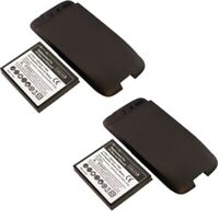 2 x 3000mAh Extended Battery for HTC Desire Bravo A8181 A8182 Black Cover