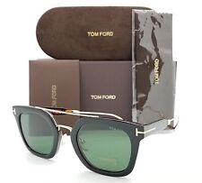 New Tom Ford Alex sunglasses FT0541 05N 51mm Black Gold Green Square AUTHENTIC