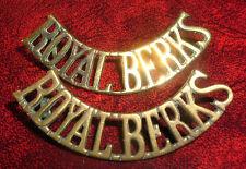 SHOULDER TITLES-ROYAL BERKSHIRE REGIMENT 'ROYAL BERKS' MATCHING PAIR 1902-1920