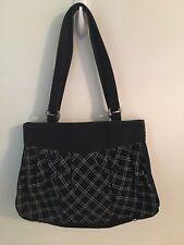 Women's Vera Bradley Black/White Medium Handbag/Purse, EUC