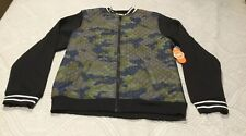 Wonder Nation Boys Green Black Camo Quilted Full Zip Jacket Size Xxl (18) New