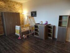 Chambre de Bébé Complet Lit Armoire Commode Étagères Brauncafe 5Farben