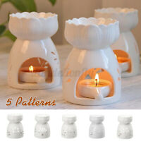 Ceramic Wax Melt Warmer Oil Burner Fragrance Tealight Candle Holder Aromatherapy