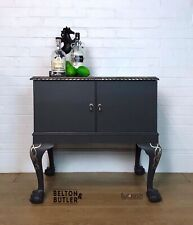 Dark Grey and Gold Hand Painted Cocktail Cabinet