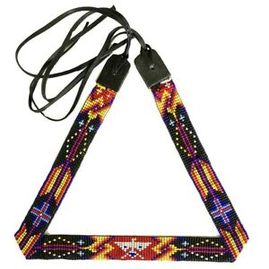 Handmade Native Style Beaded Multi-Color Thunderbird Beadwork Cowboy Hatband