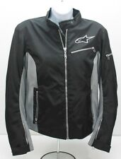 Alpinestars Stella Womens Motorcycle Jacket Black Gray Polyester L Large 40 Mesh