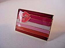 Lesbian Lipstick Flag Lapel Pin - Superior High Quality Enamel (LGBT Gay Pride)