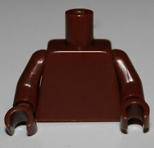 Lego New Reddish Brown Torso Shirt with Collar Gold Breastplate with Silver Tub