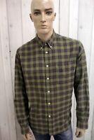 WOOLRICH Camicia Taglia L JOHN RICH & BROS Uomo Cotone Shirt Casual Manica Lunga