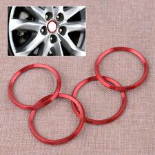 4x Red Aluminium Wheel Center Hub Ring Trim Sticker Fit For Mazda 3 Sedan 14-17
