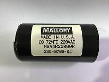 60-72uf MSA4R22060R Mallory Motor Start Capacitor 220vac Suit 240vac Motors
