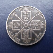 More details for 1890 double florin comes with free uk p&p