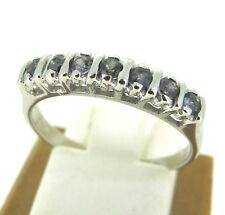 14k White Gold Alexandrite Ladies Cocktail Ring Size 7.5
