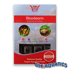 BCUK Frozen Fish food- FROZEN BLOODWORM 11 x 100g blister packs FREE P&P