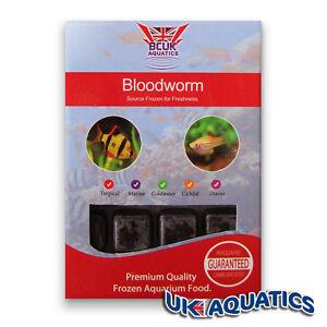 BCUK Frozen Fish food- FROZEN BLOODWORM 11 x 100g blister packs FREE P&P