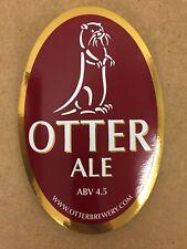 Porcelain Otter Brewery Otter Head Silver Bar Pump Clip