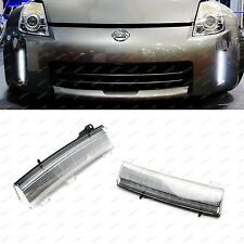 White CREE LED Front Bumper Reflector Daytime Running Lights: 06-09 Nissan 350Z