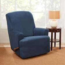 Sure fit Stretch vegan Suede storm blue 1 Piece - Recliner chair Slipcover
