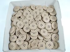 100 x Jacket Duffle Coat Sewing Buttons 4-Hole 23mm Cardboard Brown
