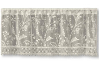 """Heritage Lace IVORY COVENTRY Window Valance with Trim 45""""W x 18""""L - Made in USA!"""
