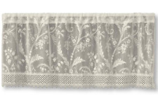 "Heritage Lace IVORY COVENTRY Window Valance with Trim 45"" W x 18"" L"