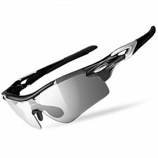 Rockbros Cycling Polarized Changeable Glasses Eyewear With Myopia Black Frame