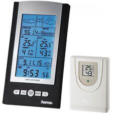 Hama 76045 Wetterstation EWS-800 Silber-Schwarz Funkuhr Außensensor Thermomete