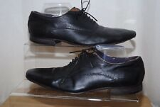 TED BAKER Mens Black Leather Oxford Shoes Uk Size 8