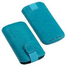 Für HTC Desire Hd, Z Handy ECHT LEDER Tasche / Case / Etui / Hülle Türkis NEU