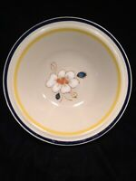 Acson's  Masterpiece Genuine Stoneware 8633 Blue/Yellow Serving Bowl 10""