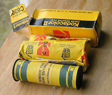 Kodak Kodacolor II 620 obsoleta Abierto Caja de papel de aluminio usado 05/1977