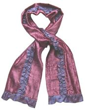 echarpe fantaisie femme velours violet et rose