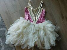 Ooh La La Couture girl 6X/7 TUTU off white pink sequins party pageant dress