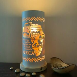 Billies & Tong Africa Home Gift African Map & Quote Lamp by Tique Lights