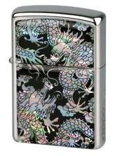 "ZIPPO ""MOTHER OF PEARL - DRAGON"" LIGHTER * NEW in WOODEN BOX *"