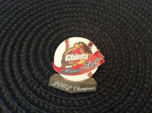 MLB Peoria Chiefs Midwest League 2002 Champions Collectible Baseball Pin!