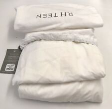 Restoration Hardware Solid Linen-Cotton Box-Spring Cover Full Ivory NEW $89