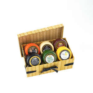 Cheshire Cheese Company No.1 Gift Box Selection-Faux Wicker Cardboard Gift Box