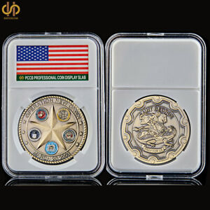 2003 USA Bronze Challenge Coin Iraq War Operation New Dawn Saint George Pray