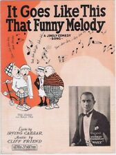 It Goes Like This That Funny Melody, Murray Washman, 1928  vintage sheet music