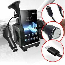✔ Nero Parabrezza Grande Girevole Mount Cellulare Titolare Culla Kit Caricabatterie per auto