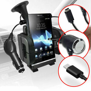 Windscreen Mount In Car Phone Holder✔In Car Charger✔Apple iPhone iPod