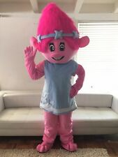 Troll Poppy  Mascot Costume Adult Halloween BIRTHDAY Movie Girl Party Pink USA